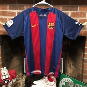NIKE LIONEL MESSI FC BARCELONA  HOME JERSEY MENS S